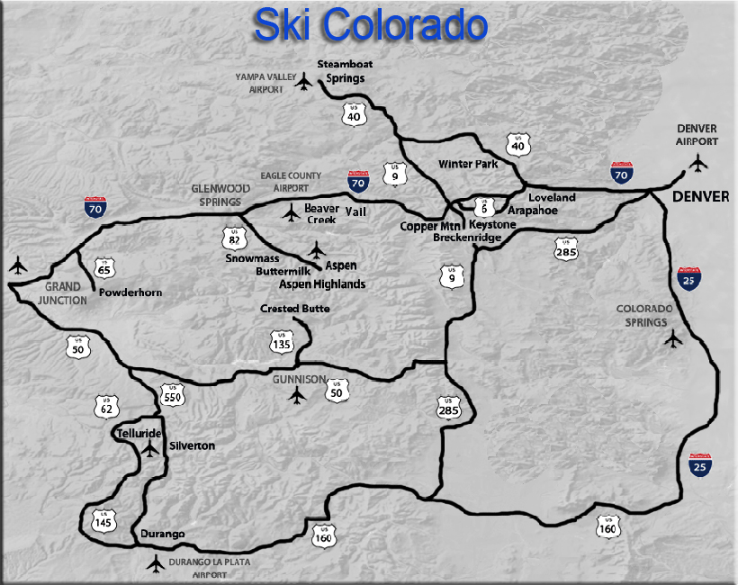 Colorado Ski Map - Book Top Cheap Hotels in Colorado