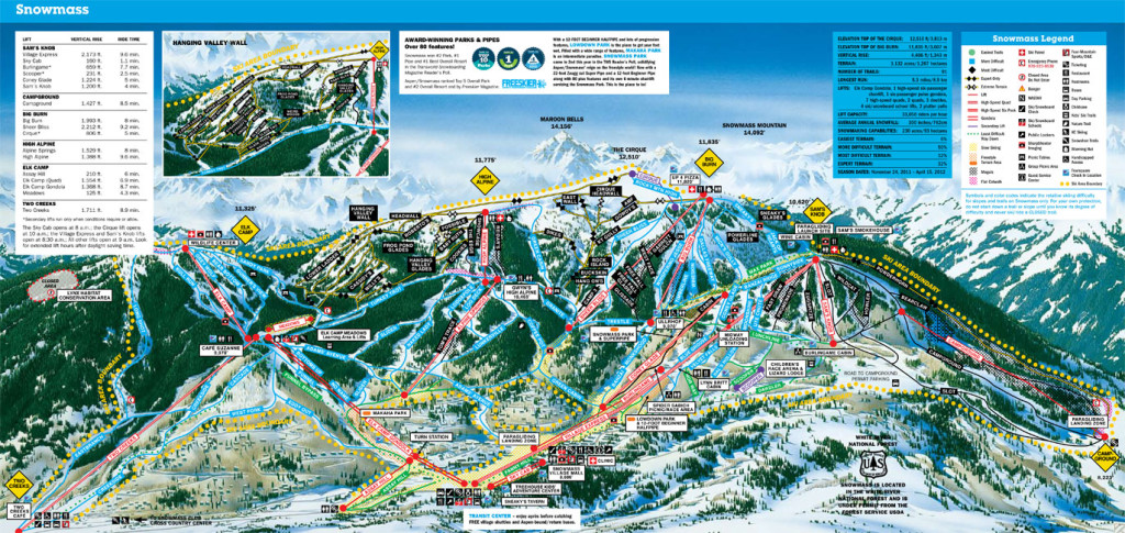 Snowmass Ski Resort Map - Find Top Deals on Lodges in Snowmass