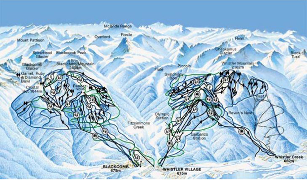 Whistler Balckcomb Ski resort Map - Top and Cheap Hotels